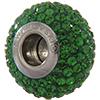 Swarovski 180101 BeCharmed Pave Beads 14mm Dark Moss Green