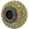 Swarovski 180101 BeCharmed Pave Beads 14mm Jonquil