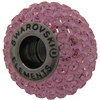 Swarovski 180101 BeCharmed Pave Beads 14mm Light Rose
