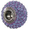Swarovski 180101 BeCharmed Pave Beads 14mm Tanzanite