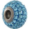 Swarovski 180201 BeCharmed Pave Beads 14mm Aquamarine