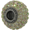 Swarovski 180201 BeCharmed Pave Beads 14mm Luminous Green