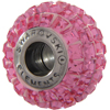 Swarovski 180201 BeCharmed Pave Beads 14mm Rose