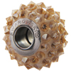 Swarovski 180401 16mm BeCharmed Pavé Bead with Crystal Golden Shadow Spike Crystals on White Base