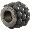 Swarovski 180601 BeCharmed Pavé Barrel 10.5mm Jet Hematite Matte Finish