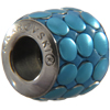 Swarovski 180701 9.5mm BeCharmed Pavé Barrel Bead Blue Brushed