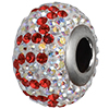 """Swarovski 184702 BeCharmed Pave Mother's Day Beads 14mm Crystal AB with Light Siam """"MUM"""""""