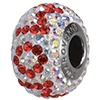Swarovski 184802 BeCharmed Pave Mom Bead 14mm with Crystal AB and Light Siam