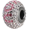 Swarovski 184902 14mm BeCharmed Pave I Love You Bead with Light Rose and Crystal