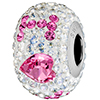 Swarovski 184902 14mm BeCharmed Pave I Love You Bead with Crystal Moonlight and Rose