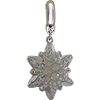 Swarovski Pave Edelweiss BeCharmed Charm 14 mm White Opal with Crystal on Silver Edelweiss Flower