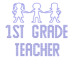 Iron On Transfer - FIRST GRADE TEACHER