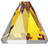 Swarovski 2019 Round Spike Flat Back Light Topaz Shimmer 4mm