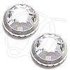 Swarovski 2039 Ringed Hotfix Crystal / Silver SS16