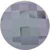 "Swarovski 2035 Chessboard Circle Flat Back Crystal Comet Argent Light ""SI"" (Unfoiled) 20mm"