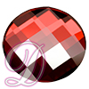 Swarovski 2035 Chessboard Circle Flat Back Crystal Red Magma 10mm