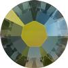 Swarovski 2038 XILION Rose Hotfix Crystal Iridescent Green SS20