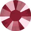 Swarovski 2038 XILION Rose Hotfix Crystal Dark Red (Hotfix Transparent) SS10