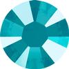 Swarovski 2038 XILION Rose Hotfix Crystal Azure Blue (Hotfix Transparent) SS10