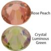 Swarovski 2058 Rhinestones FlatBack 20ss New Colors- Rose Peach & Crystal Luminous Green