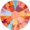 Swarovski 2058 XILION Rose Flat Back Tangerine Shimmer SS5