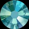 Swarovski 2058 XILION Rose Flat Back Blue Zircon Shimmer SS7