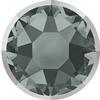 Swarovski 2078/I Rimmed Hotfix Black Diamond / Light Chrome SS16