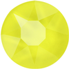 Swarovski 2078 XIRIUS Rose Hotfix Crystal Electric Yellow (Hotfix Transparent) SS34