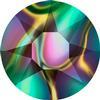 Swarovski 2078 XIRIUS Rose Hotfix Crystal Rainbow Dark SS12