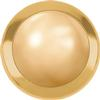 Swarovski 2080/H Framed Hotfix Pearl Cabochon Crystal Golden Shadow / Gold SS34