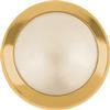 Swarovski 2080/H Framed Hotfix Pearl Cabochon Cream / Gold SS34