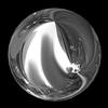 Swarovski 2081/2 Cabochon Hotfix Pearl Crystal Light Chrome SS10