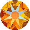 Swarovski 2058 XILION Rose Flat Back Tangerine Shimmer SS7
