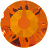 Swarovski 2088 XIRIUS Flatback Rhinestones 16ss Tangerine