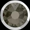 Swarovski 2088/I Rimmed XIRIUS Rose Flat Back Black Diamond with Light Chrome Rim SS34