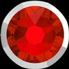 Swarovski 2088/I Rimmed XIRIUS Rose Flat Back Light Siam with Light Chrome Rim SS34