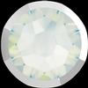 Swarovski 2088/I Rimmed XIRIUS Rose Flat Back White Opal with Light Chrome Rim SS34