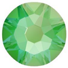 Swarovski 2088 XIRIUS Rose Flat Back Crystal Electric Green DeLite ss12