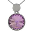 "16"" Necklace with 18mm Swarovski Crystal Vitrail Light Rivoli Pendant"