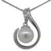 "16"" Pearl Pendant Necklace"
