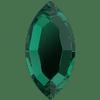 Swarovski 2200 Navette Flat Back Emerald 8x4mm