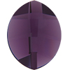 Swarovski 2204 Pure Leaf Flat Back Amethyst 10x8mm