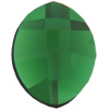 Swarovski 2204 Pure Leaf Flat Back Dark Moss Green 14x11mm