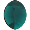 Swarovski 2204 Pure Leaf Flat Back Emerald 14x11mm