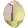 Swarovski 2204 Pure Leaf Flat Back Crystal Lemon 14x11mm