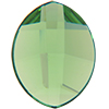 Swarovski 2204 Pure Leaf Flat Back Peridot 14x11mm