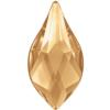 Swarovski 2205 Flame Flat Back Crystal Golden Shadow 10mm