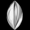 Swarovski 2208/4 Cabochon Navette Crystal Light Chrome 10x5mm