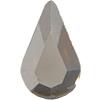 Swarovski 2300 Pear Shape Hotfix Crystal Silver Shade 8x4.8mm
