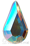 Swarovski 2300 Pear Shape Flat Back Crystal AB 10x6mm